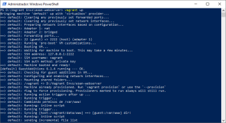 powershell vagrant up
